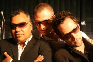 Left to right: Jean-Paul Maunick aka Bluey, Francesco Mendolia and Joao Caetano