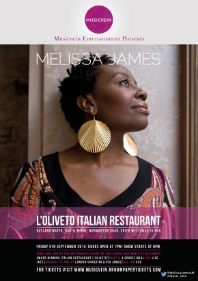 Musicvein Entertainment present Melissa James