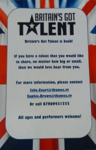 BGT Audition Flyer