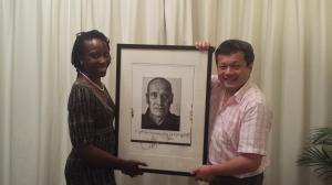 Melissa James with Wilko Johnson portrait