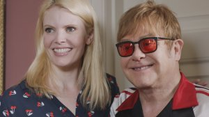 Nathalie Cox and Elton John